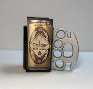 Get It Now! Brass Knuckles Beer Koozie